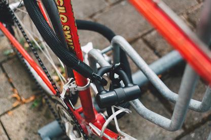 Bike with padlock