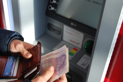 Withdrawing money for a ATM