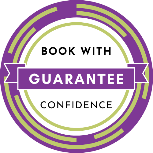 Book with confidence guarantee